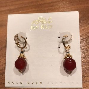 NWT Gold over silver earrings